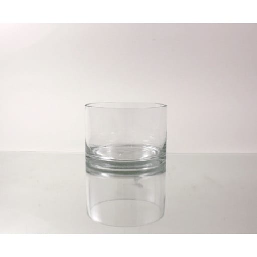 Shop Glass 6 Inch X 4 Inch Cylindrical Vase Free Shipping On