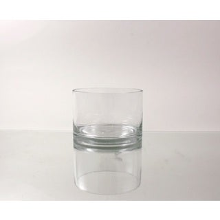 Glass 6-inch x 4-inch Cylindrical Vase