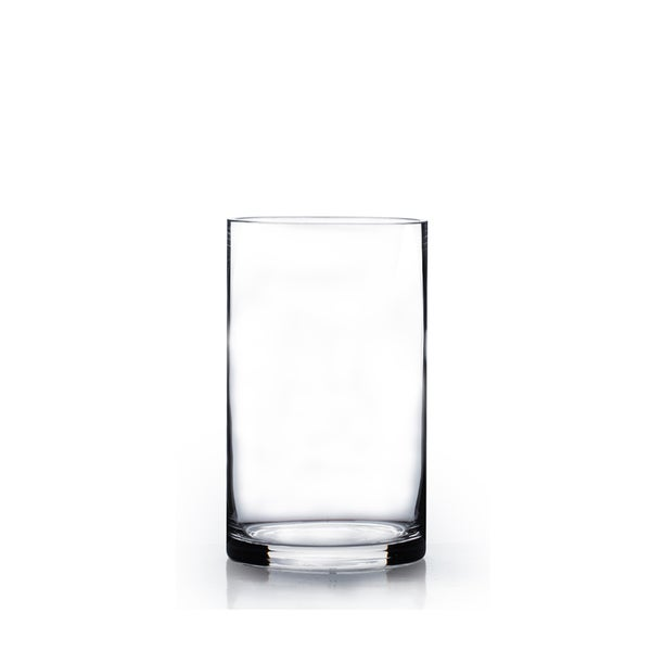 Clear Glass 5 Inch X 10 Inch Cylinder Vase Free Shipping