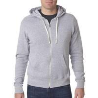Triblend Men's Grey Triblend Full-Zip Fleece Hood Jacket