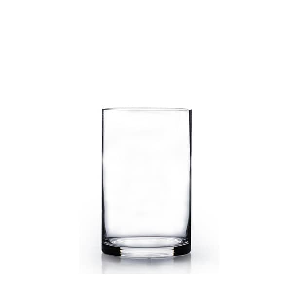 Clear Glass 5 Inch X 8 Inch Cylinder Vase Free Shipping