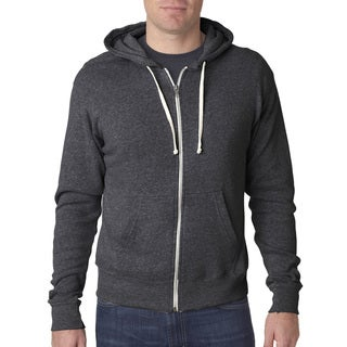 Triblend Men's Black Triblend Full-Zip Fleece Hood Jacket