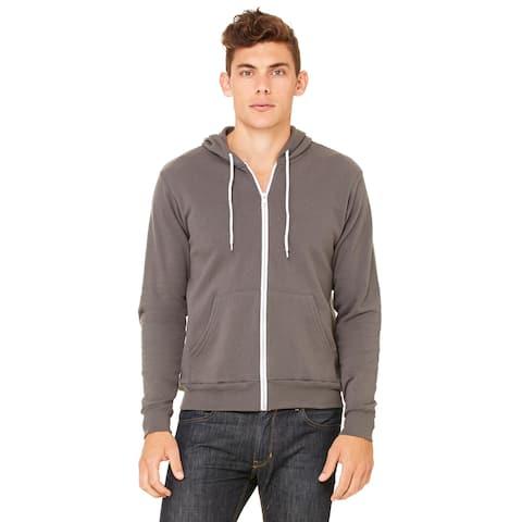 Unisex Big and Tall Asphalt Poly - Cotton Fleece Full - Zip Hoodie Size - 2XL