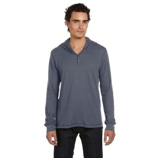 Thermal Men's Long-Sleeve Henley Deep Heather Hoodie