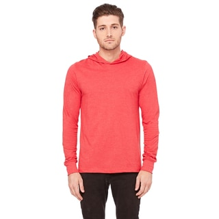Unisex Big and Tall Jersey Long-Sleeve Heather Red Hoodie