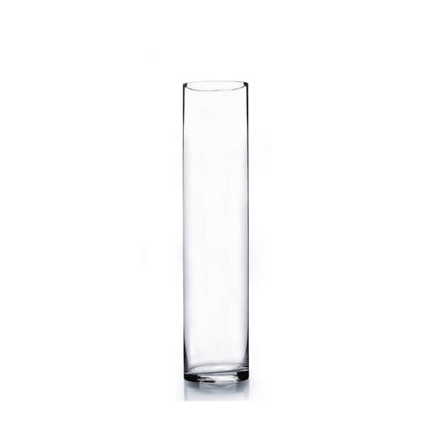 Clear Glass 3 Inch X 16 Inch Cylinder Vase Free Shipping