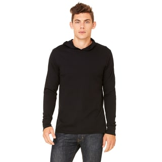 Unisex Big and Tall Black Jersey Long-Sleeve Hoodie