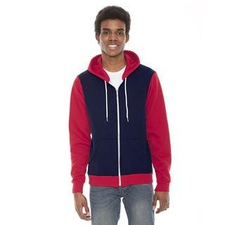 Unisex Big and Tall Navy/Red Flex Fleece Zip Hoodie