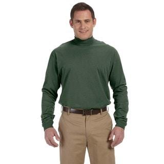 Sueded Men's Forest Cotton Jersey Mock Turtleneck (XS,XL)