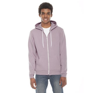 Unisex Big and Tall Mauve Flex Fleece Zip Hoodie