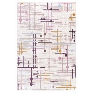 Persian Rugs Modern Lines of Multicolor Area Rug (7'11 x 9'10)