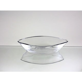 11-inch Clear Glass Long Boat Vase