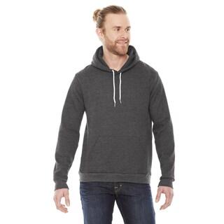 Unisex Big and Tall Flex Fleece Drop Shoulder Pullover Dark Heather Grey Hoodie