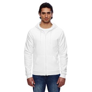 Unisex Big and Tall California Fleece Zip White Hoodie