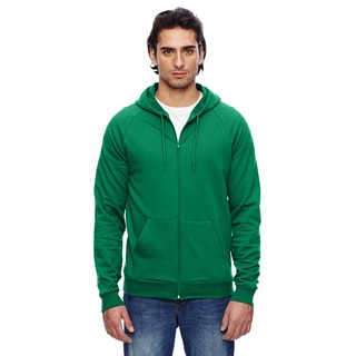 Unisex Big and Tall California Fleece Zip Kelly Green Hoodie