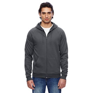 Unisex Big and Tall California Men's Big and Tall Fleece Zip Asphalt Hoodie