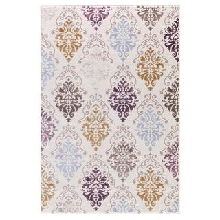 Persian Rugs Contemporary Floral Mini Medallion Colorful Area Rug (5'2 x 7'2)