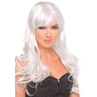 Fashion Synthetic Long White Burlesque Wig