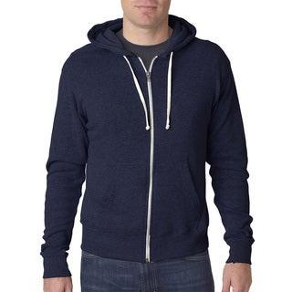 Triblend Men's Big and Tall Navy Triblend Full-Zip Fleece Hood