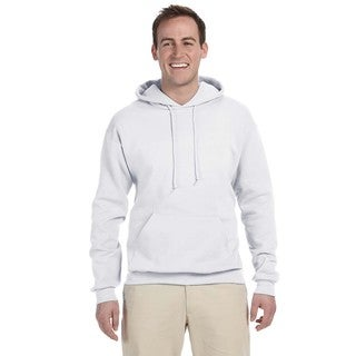 Men's Big and Tall 50/50 Nublend Fleece White Pullover Hood
