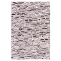 Persian Rugs Modern Bricks Design with Brown Cream Area Rugs - 2'0 x 3'0