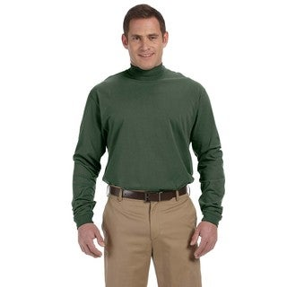 Sueded Men's Big and Tall Forest Cotton Jersey Mock Turtleneck