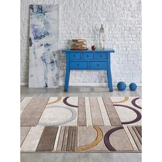 Persian Rugs Shape with Arcs Multicolored Area Rug (7'11 by 9'10)