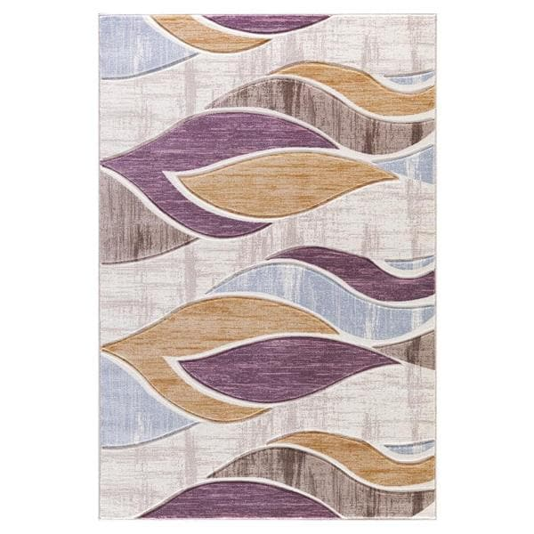 H Persian Rugs Neutral Color Waves Modern Designed Area Rug  7u0026x2710