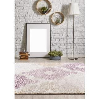 Persian Rugs Modern Oriental Multicolor with Purple Area Rug (7'11 x 9'10)