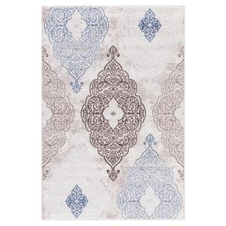 Persian Rugs Modern Oriental Multicolor with Blue Area Rug (7'11 x 9'10)