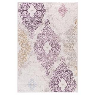 Persian Rugs Modern Oriental Multicolor with Purple Area Rug (5'2 x 7'2)
