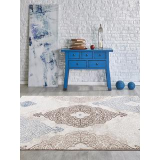 Persian Rugs Modern Oriental Multicolor with Blue Area Rug (5'2 x 7'2)