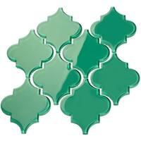Arabesque Emerald Green Tiles (7 Square Feet) (11 Sheets)
