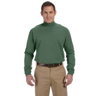 Sueded Men's Big and Tall Dill Cotton Jersey Mock Turtleneck