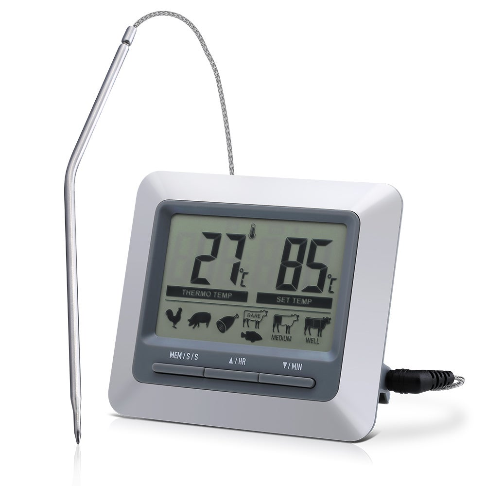 Coutlet Instant Read Barbecue Grill Thermometer & Large L...