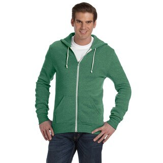 Rocky Men's Big and Tall Zip Eco Tr Green Hoodie