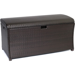 Hanover Outdoor HAN-LGTRUNK Large Resin Deck Box for Outdoor Storage