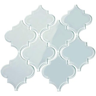 'Baby Blue' Arabesque Water Jet Tiles