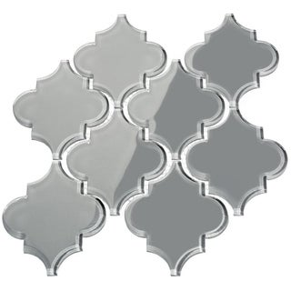 'True Gray' Arabesque Water Jet Tiles