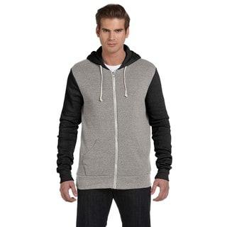 Rocky Men's Big and Tall Colorblocked Full-Zip Eco Grey/Eco Tru Black Hoodie