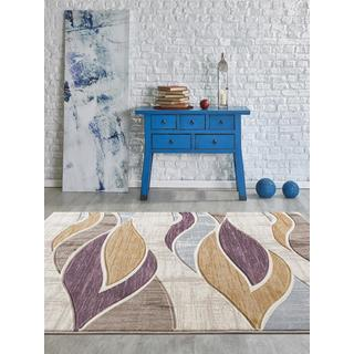 Persian Rugs Neutral Color Waves Modern Designed Area Rug (5'2 x 7'2)