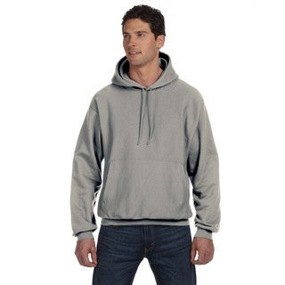 Reverse Weave Men's Big and Tall Oxford Grey Pullover Hood