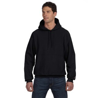Reverse Weave Men's Big and Tall Black Pullover Hood
