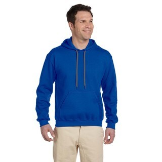 Men's Big and Tall Ringspun Hooded Royal Sweatshirt