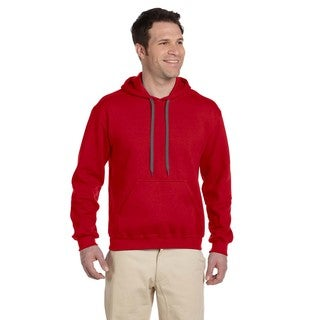 Men's Big and Tall Ringspun Hooded Red Sweatshirt