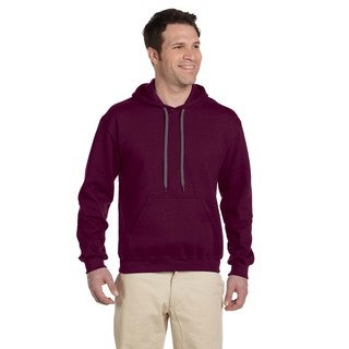Men's Big and Tall Ringspun Hooded Maroon Sweatshirt