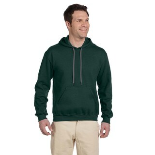 Men's Big and Tall Ringspun Hooded Forest Green Sweatshirt