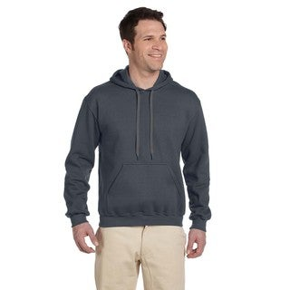 Men's Big and Tall Ringspun Hooded Charcoal Sweatshirt