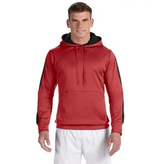 Men's Big and Tall Scarlet/Black Colorblock Pullover Hood