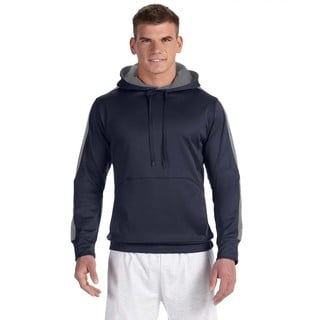 Men's Big and Tall Navy/Stone Grey Colorblock Pullover Hood